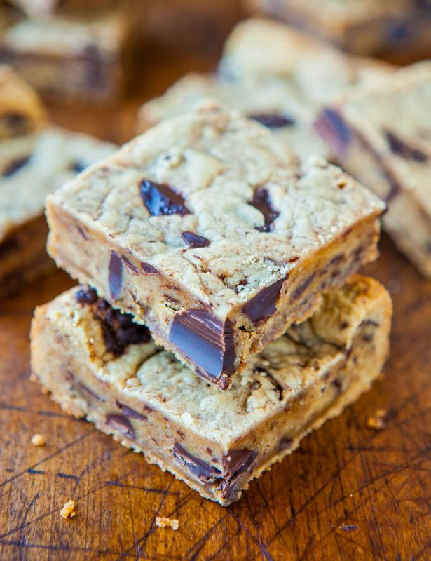 Peanut Butter Chocolate Chunk Cookie Bars: Cookies Bar, Cookie Bars, S ...