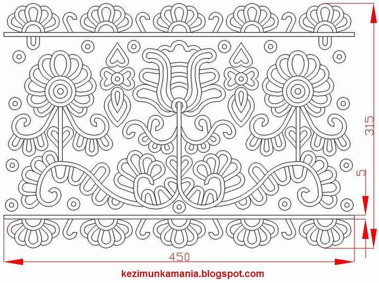 írásos párna minta A mintát Kristó Rózália párnájáról rajzoltam, AutoCad-ben