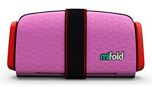 mifold Grab-and-Go Car Booster Seat Perfect Pink