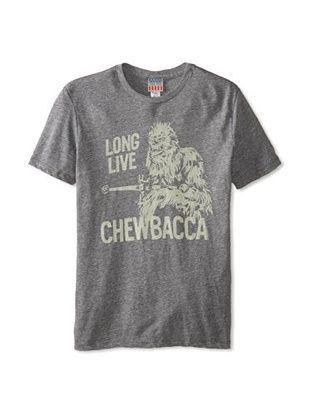 40% OFF Junk Food Men's Long Live Chewbacca T-Shirt (Steel)