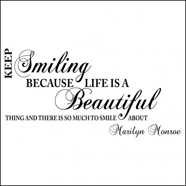 Marilyn Monroe Smile Todays Thoughts Quotes Sayings