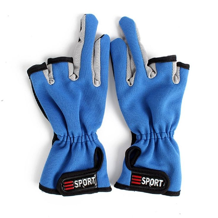 yueton Fisherman Gloves Non-slip Friction Palm 3 Low Cut Fingers Anti Non Slip Fishing Gloves Cut Angling Glove *** More info could be found at the image url.