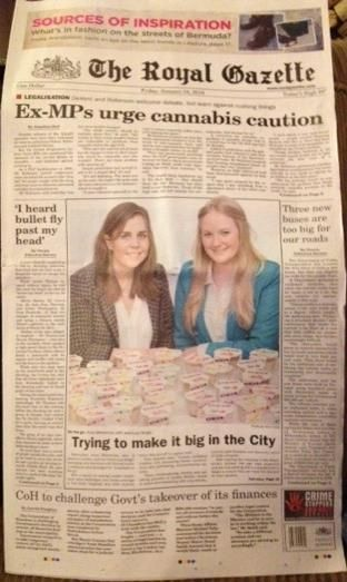 We have a front page spread in the Bermudian Newspaper, The Royal Gazette! Amazing!