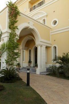 Mediterranean Home Stucco Trim Design Ideas Pictures