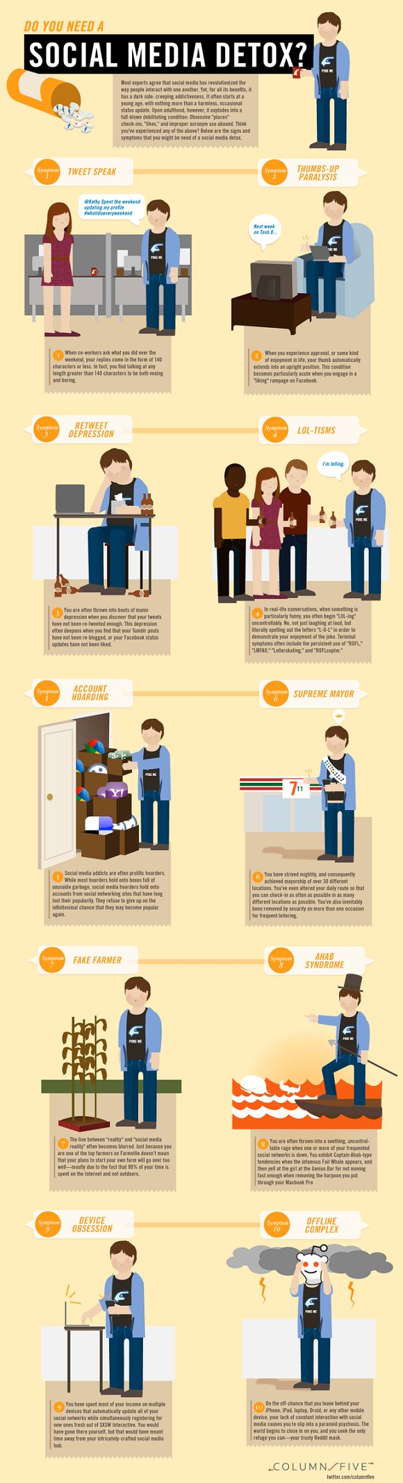Etes-vous addicts aux réseaux sociaux? - infographie