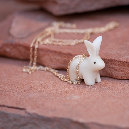 Bunny Pendant. Fair Trade from Ecuador. Want now. Easter? Valentines day? $32