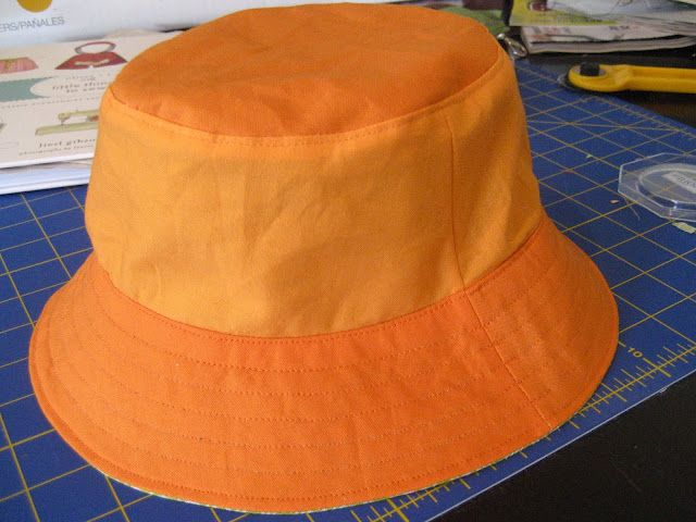 Bucket hats - hints for sewing - fully reversible.