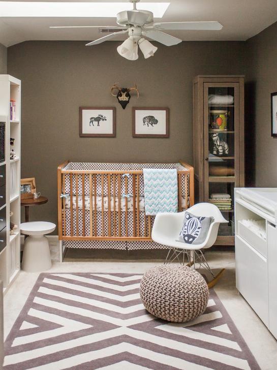 Neutral Nursery. Wall Colour W Neutral Crib