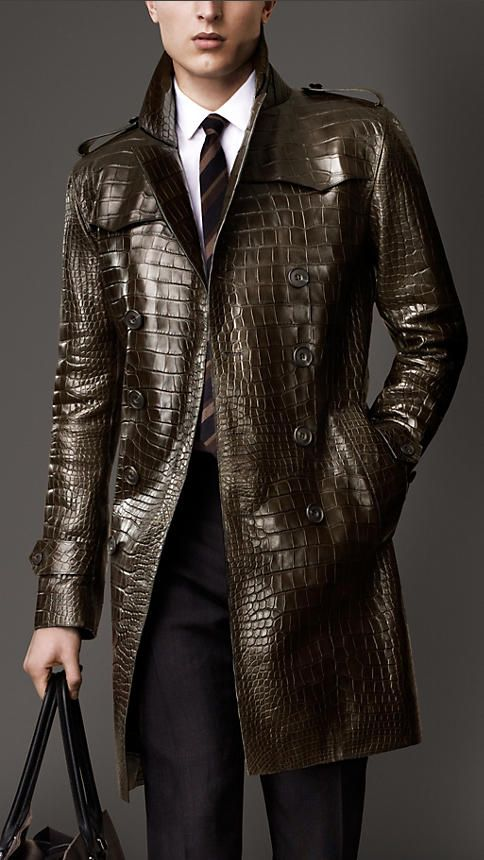 Alligator Trench Coat | Burberry  - A little crazy but it might work.