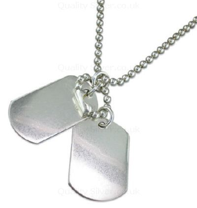 Men's Silver Double Dog Tags