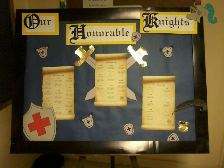 Honor roll bulletin Honorable Knights