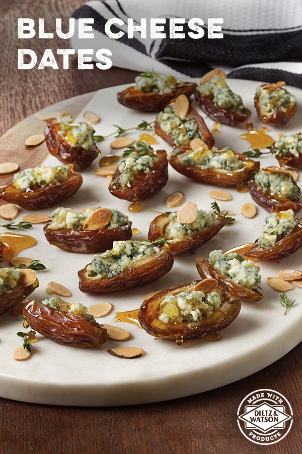 Dietz & Watson Blue Cheese Dates are creamy but crunchy & salty but sweet. A must-serve at your Holiday gathering.