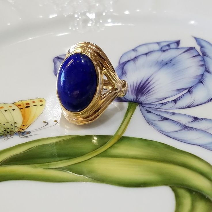 Lapis lazuli = Cleopatra vibes! 💙💙💙 #schomburgs #jewelers #shoplocal #familybusiness #columbusgeorgia #shop #columbusga #shopsmall #smallbusiness #since1872 #queen #cleopatra #vibes #blue #jewelrygoals #instajewelry