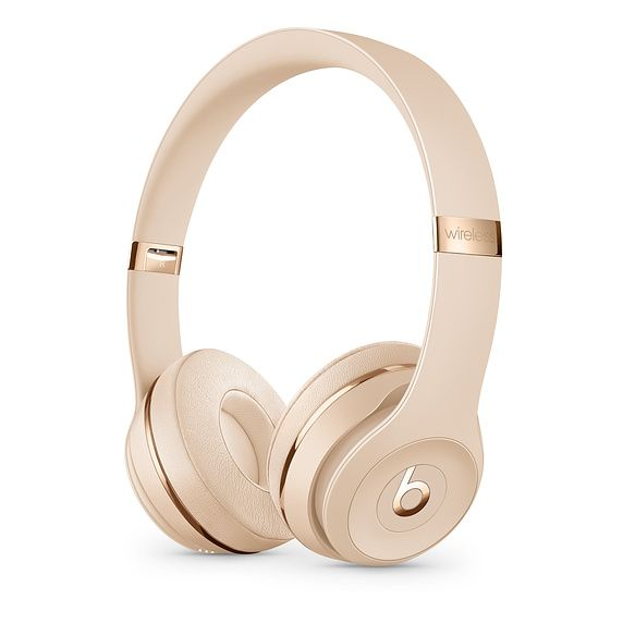 Beats Solo3 Wireless On Ear Headphones Satin Gold Apple Wireless Headphones Headphones Gold Headphones