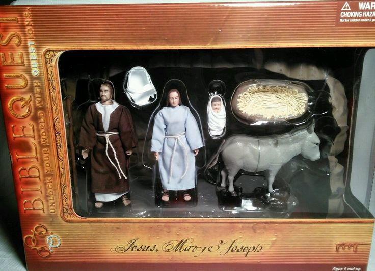 Biblequest Jesus Mary Amp Joseph Bible Action Figures With