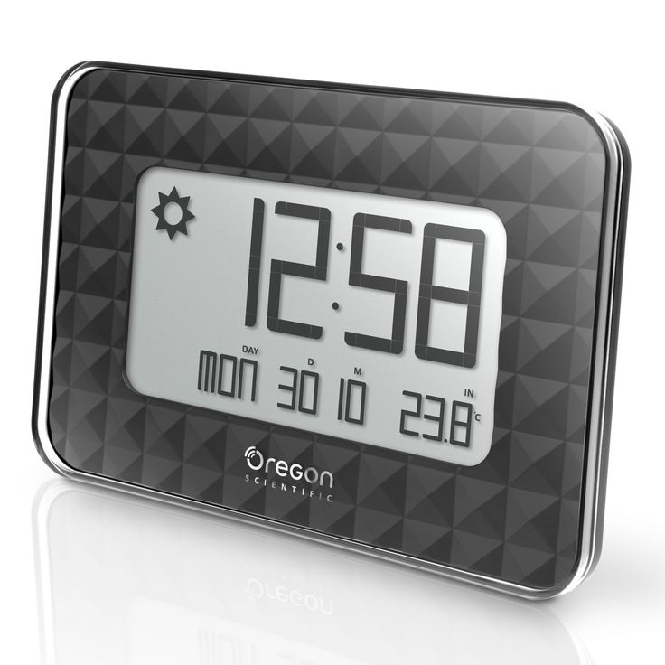 Oregon Scientific Glaze Small Wall Clock - JW208/BOXBK