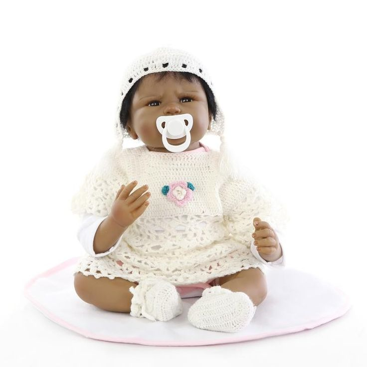 Cheap baby doll wear, Buy Quality doll baby toy directly from China baby kart Suppliers:  22 inch African American Baby Doll Black Girl Silicone Soft Reborn Baby Dolls Ethnic Alive Dolls kids gift bonecas