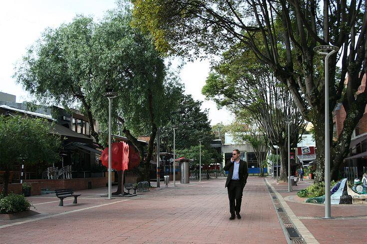 Zona T - Bogotá - simulación con Perla de día