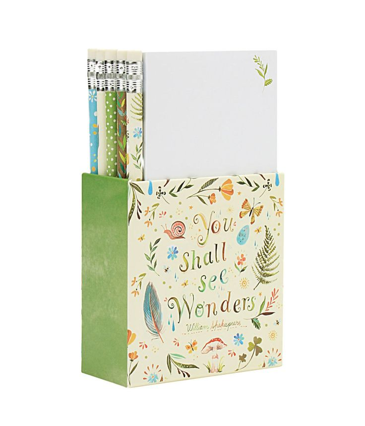 Parkside Paper   Gift - Desk Set - katie Daisy You Shall See Wonders, $12.99 (http://parksidepapers.com/gifts-for-grads/desk-set-katie-daisy-you-shall-see-wonders/)