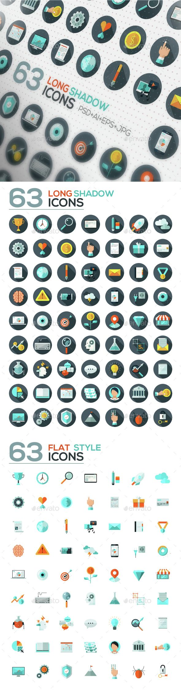 126 Flat Designed Icons Set. Download here: http://graphicriver.net/item/126-flat-designed-icons-set/14712804?ref=ksioks