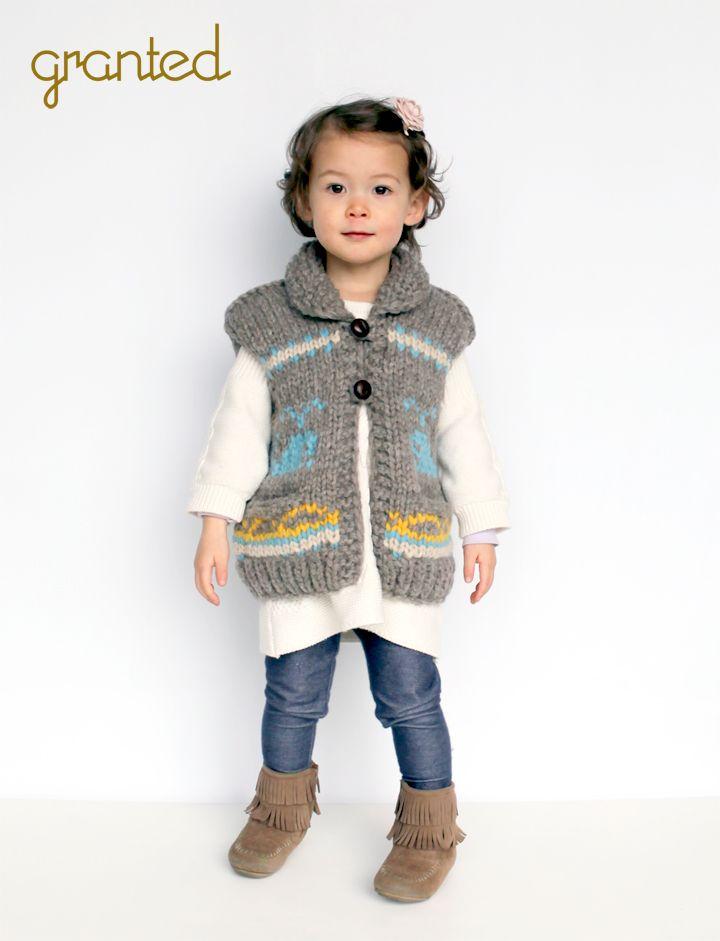 Kids whale motif vest