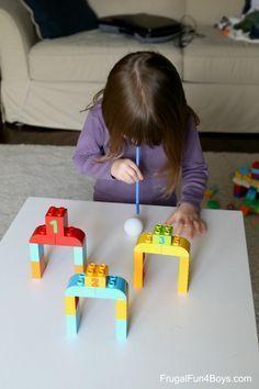 Spiele Ideen mit LEGO DUPLO Steinen – #DUPLO #idee…