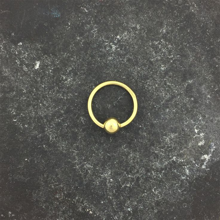 18ct Gold Bead Closed Ring. Hallmarked 18ct gold Body jewellery. by DamianMilesJeweller on Etsy