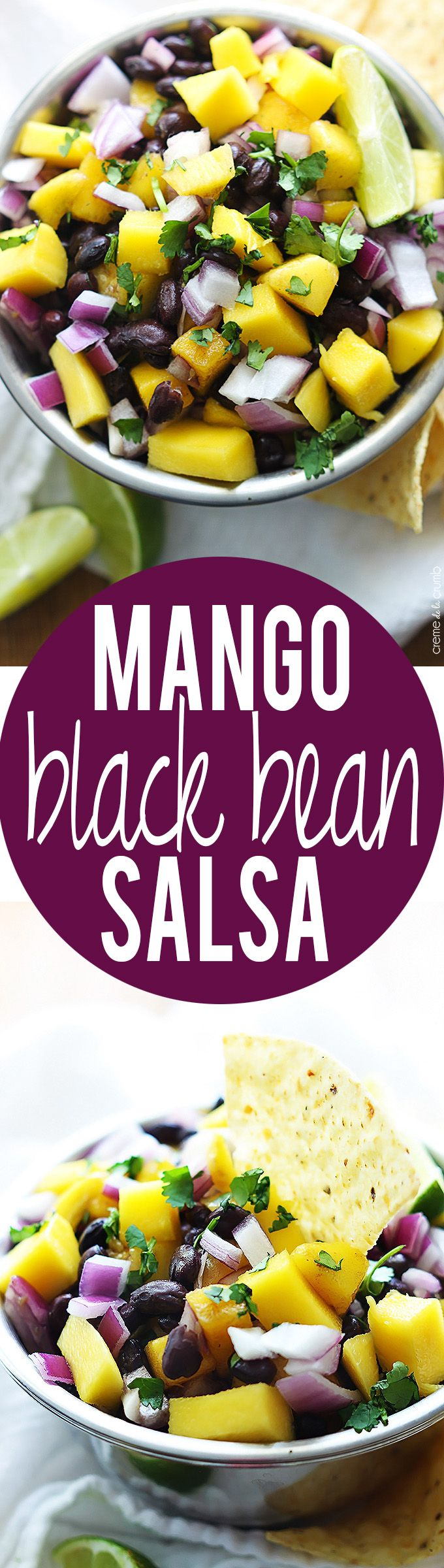 Mango Black Bean Salsa | Creme de la Crumb