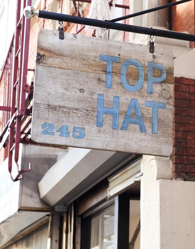Love stores that specialize in a little bit of this and that.  Top Hat.  Must check out.