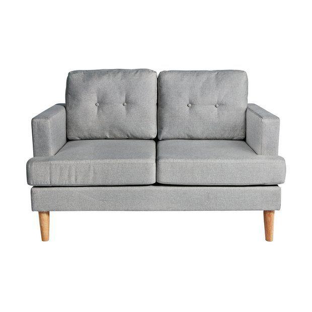Stupendous Home Joshua 2 Seater Fabric Sofa Light Grey Highbury In Squirreltailoven Fun Painted Chair Ideas Images Squirreltailovenorg