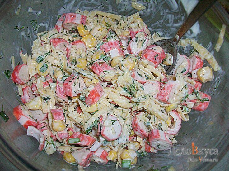 Салат из крабовых палочек, кукурузы и сыра #салат #крабовыепалочки #кукуруза #сыр  #рецепты #деловкуса #готовимсделовкуса