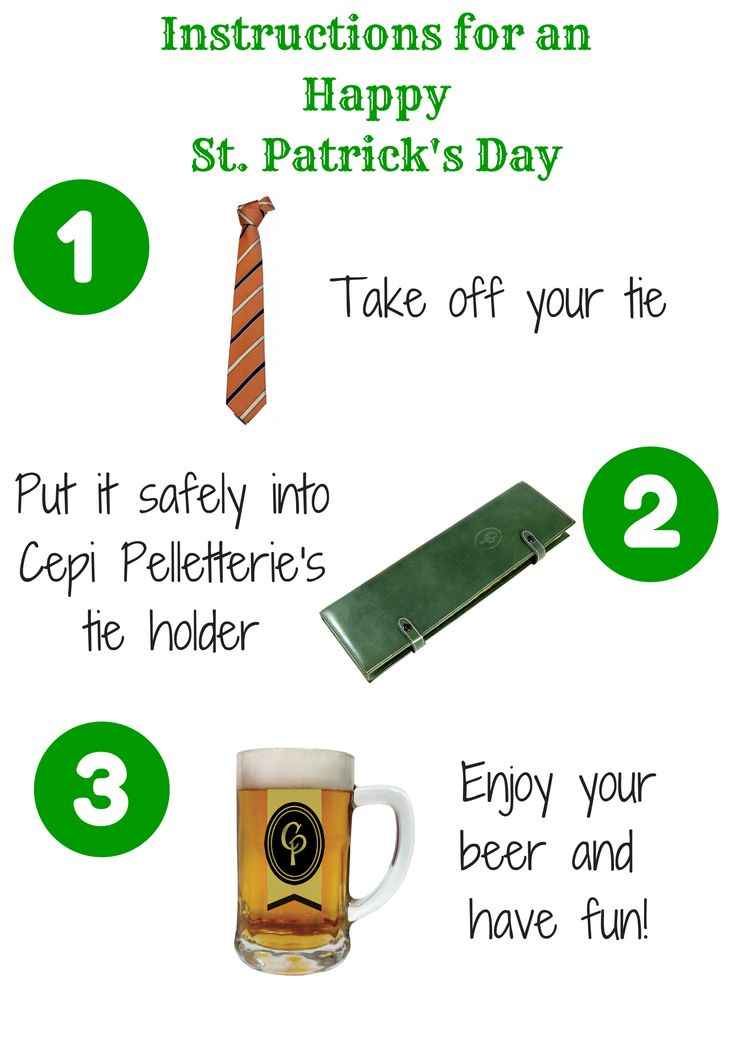 You don't need a #tie today!   #SaintPatricksDay #CepiPelletterie