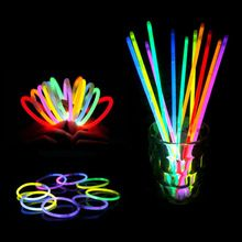 100pcs/lot Christmas Party Concert Supplies Fluorescent Bracelets Glow Sticks Wedding Party Decoration Night Light Sticks(China (Mainland))