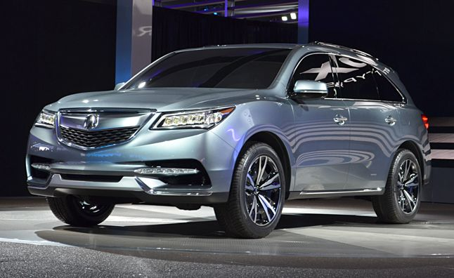 2014 Acura MDX Prototype Gets New V6, Jewel Eye Lights: 2013 Detroit Auto Show. For more, click http://www.autoguide.com/auto-news/2013/01/2014-acura-mdx-prototype-gets-new-v6-jewel-eye-lights-2013-detroit-auto-show.html