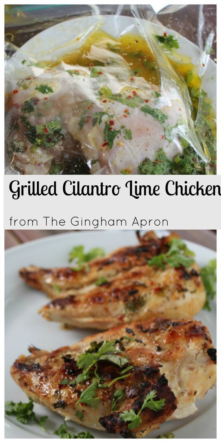 Grilled Cilantro Lime Chicken- Simple, delicious, summery! Bursting with fresh, healthy flavors.