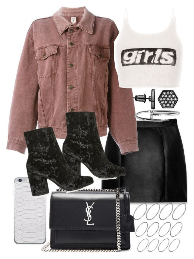 Untitled #20521 by florencia95 on Polyvore featuring polyvore, fashion, style, Alexander Wang, Moschino, Yves Saint Laurent, Topshop, Simply Vera, ASOS, Jamie Clawson and clothing