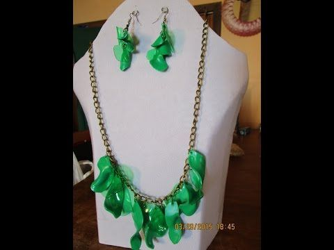 DIY. Collar reciclado de botellas de plastico - YouTube