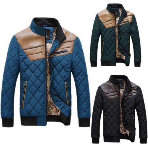 PODOM MANTEAU DOUDOUNE HOMME Matelassé Rembourré JACKET COAT BLOUSON VESTE HOODY in Vêtements, accessoires, Hommes: vêtements, Manteaux, vestes | eBay