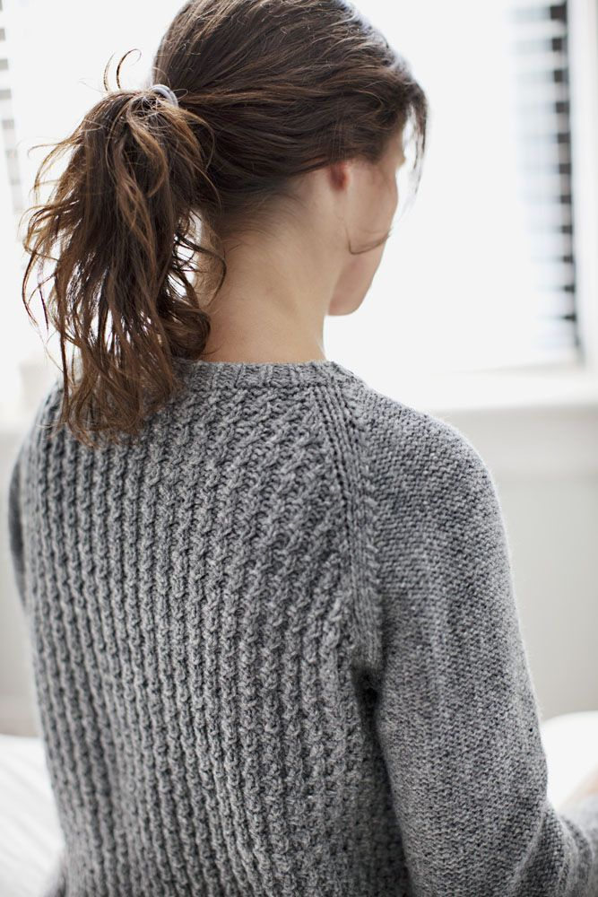 Bedford pullover sweater pattern by Michele Wang (knitting, bottom-up, seamless, cables, brooklyn tweed)