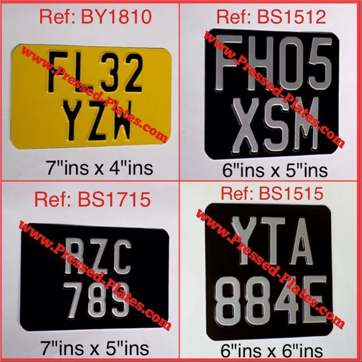 Motorcycle Number Plate Black & Silver or Yellow & Black (Pressed Plate) SIZES 4 in Vehicle Parts & Accessories, Car Parts, Exterior & Body Parts | eBay!