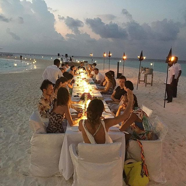 """""""Just a casual, low-key dinner in the Maldives. Happy birthday Chantal!"""" Matthew Williamson shares a photo from his travels."""