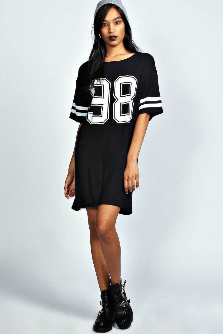 Black t shirt jersey dress - Sports Luxe Has Never Looked So Effortless Be A Chick In The Donna 98 T Shirt Dress