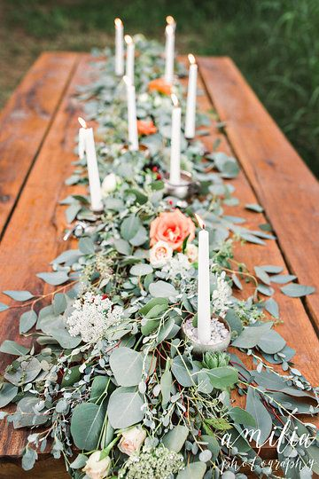 Meadow Hill Farm Wedding  Amilia Photography Vintage Bohemian Southern Flower Crown Columbia Tennessee Nashville Wedding Wedding Invitations Blackberries Watercolor Eucalyptus Garland Outdoor Wedding