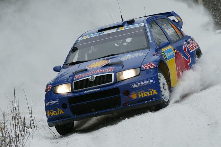 Skoda Fabia WRC rally car - Mattias Ekstrom