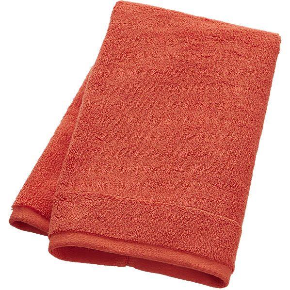 smith orange hand towel    CB2