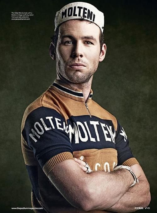 Mark Cavendish like Eddie Merckx. Could he just stop standing there looking all perfect for one second.