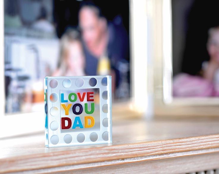 Bright and cheerful with a sweet, simple and heartfelt message. #Love #Dad #Gift #Family #Spaceform #London