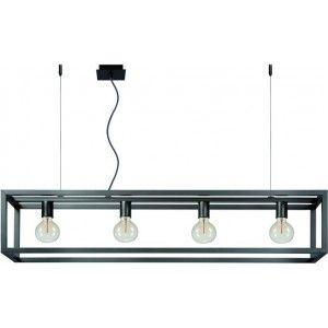 Gezien op Beslist.nl: Lucide - Oris Hanglamp 4 stuks - Donkergrijs L= 120 cm B= 25 cm H= 145 cm D=