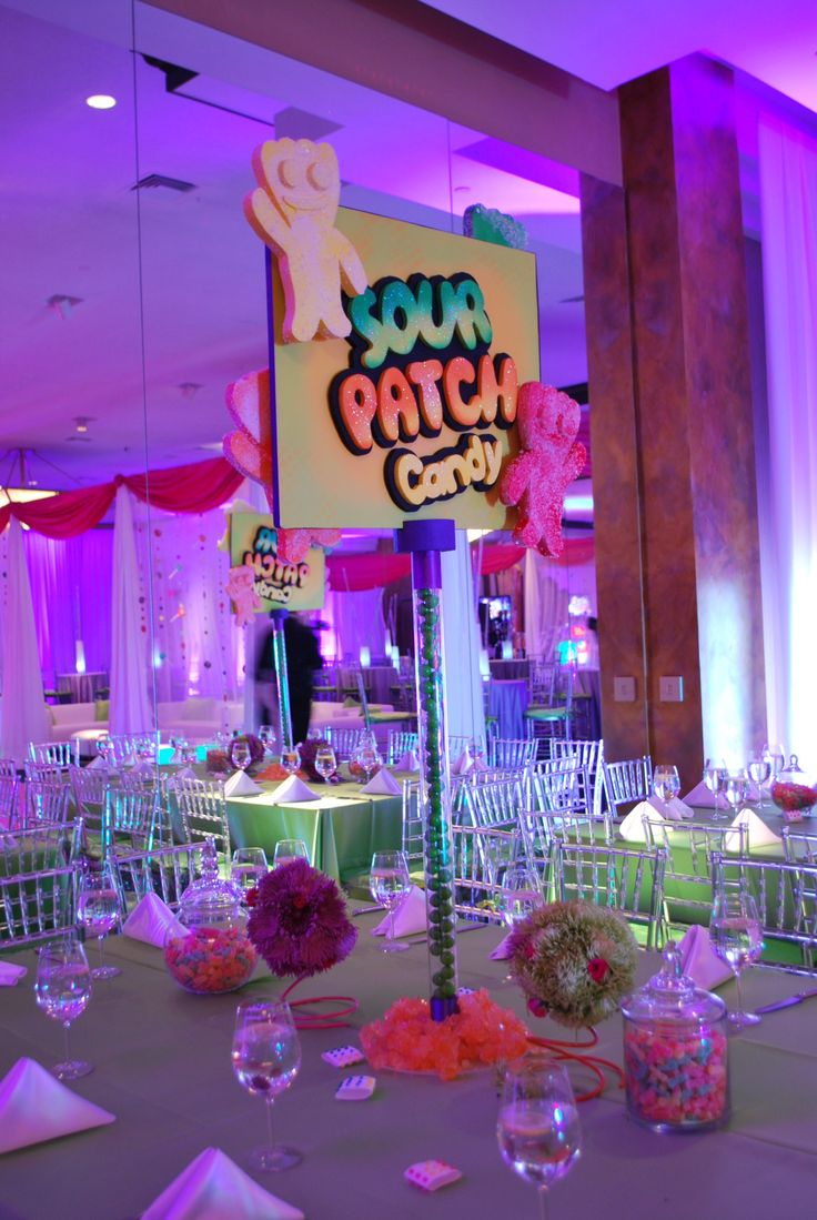candy themed bat mitzvah event decor party perfect boca. Black Bedroom Furniture Sets. Home Design Ideas