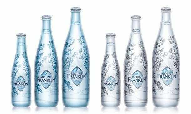 графический дизайн упаковки горной воды